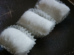Close-up view of Dragon Beard Candy